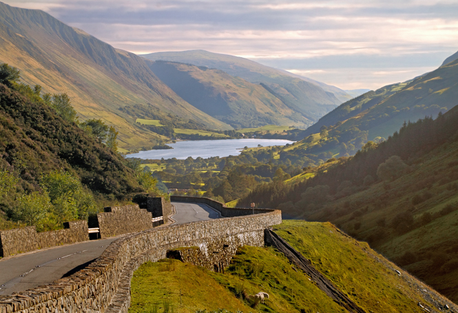 The lakes and mountains of Snowdonia, Wales