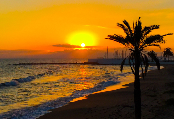 Marbella at sunset